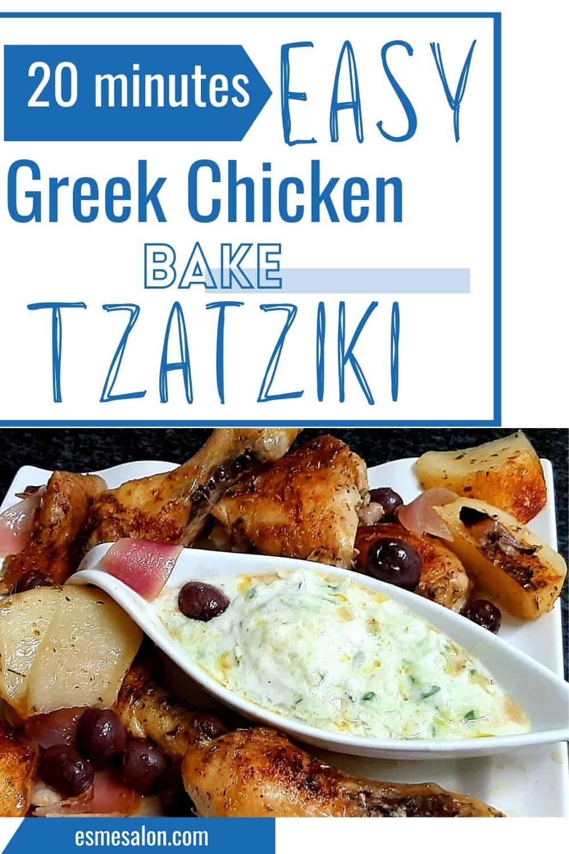 Chicken Pieces with Tzatziki