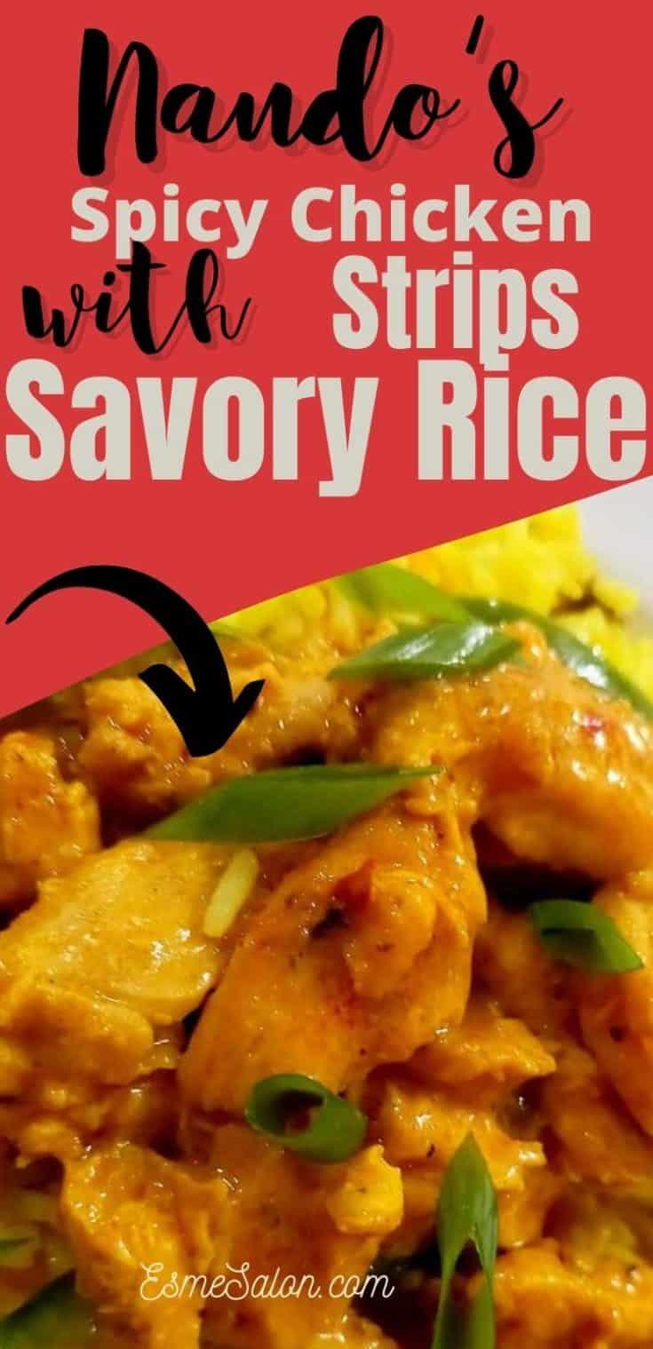 Nando's Style Spicy Chicken strips