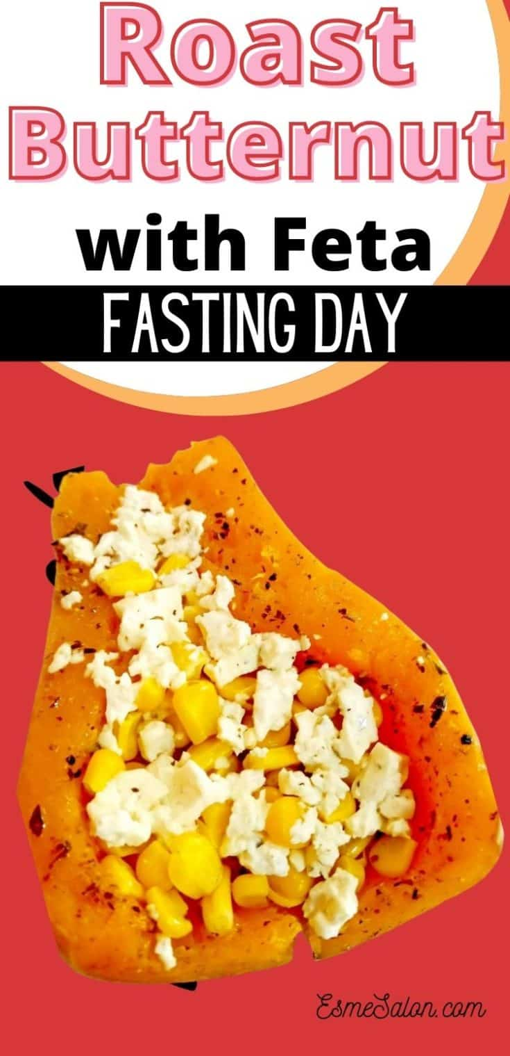 Roast Butternut with Feta for fasting day