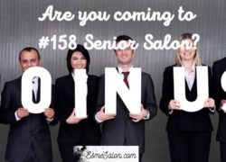 Are you coming tomorrow to #158 Senior Salon?