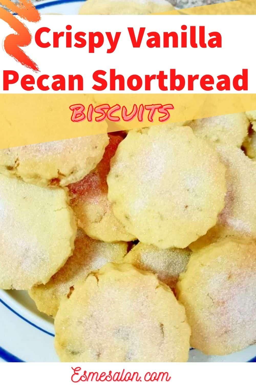 Pecan shortbread biscuits
