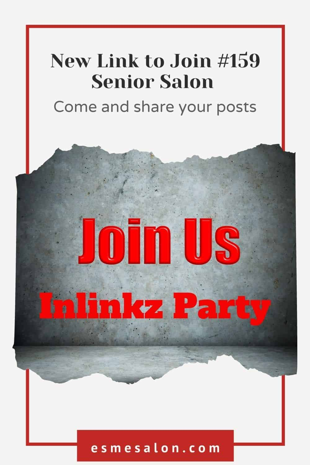 Torn piece of paper with red wording Join Us Inlinkz Party