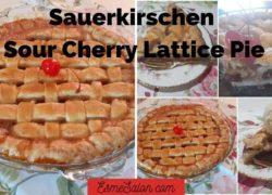 Sauerkirschen Lattice Pie