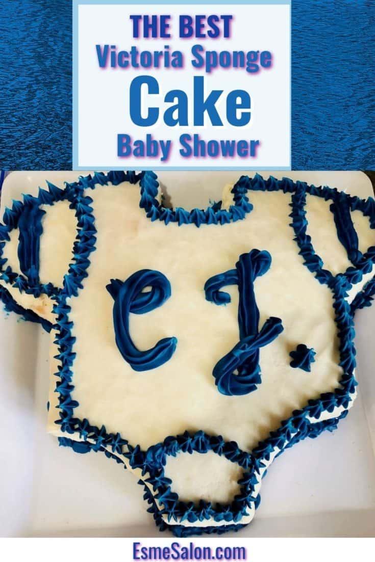 A Baby Shower Onesie Victoria Sponge Cake