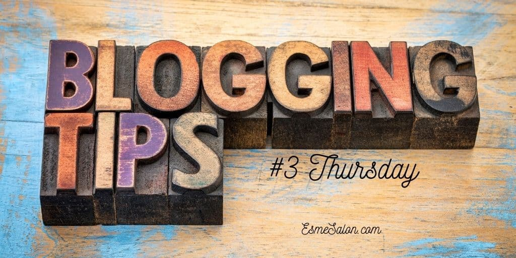 Blogging tips spelled out in wooden blocks