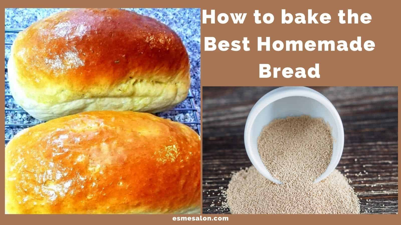 2 loaves of bread with yeast