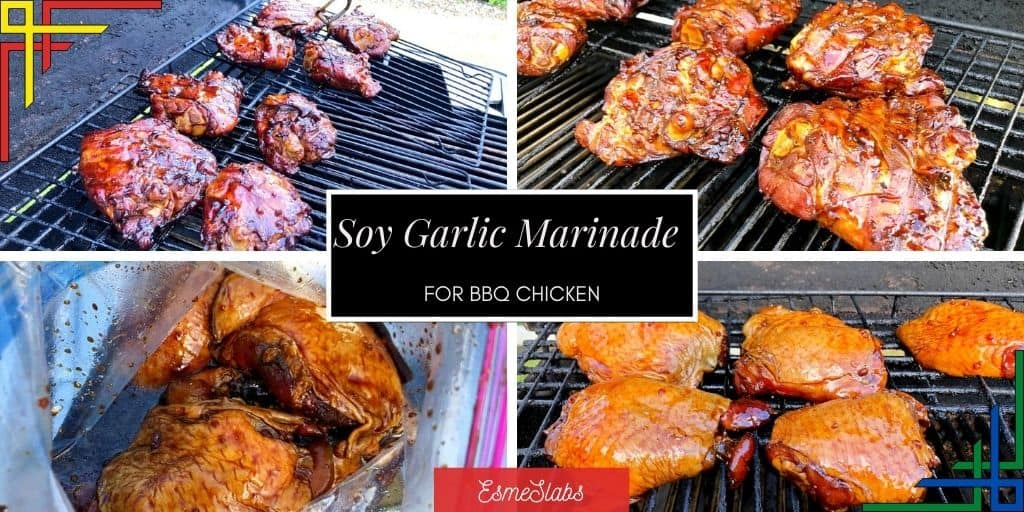 Soy Garlic Chicken on BBQ Grilling