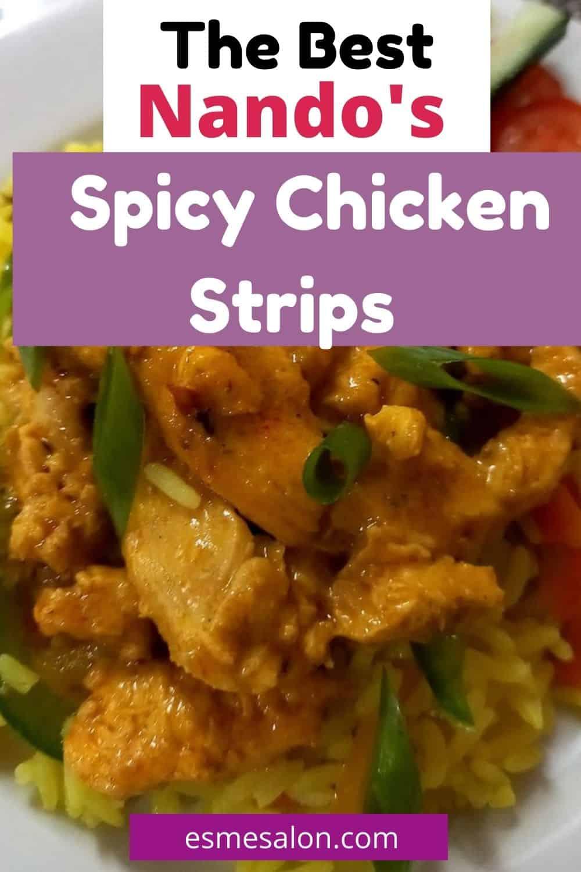 Delicious Nando's Style Spicy Chicken Strips