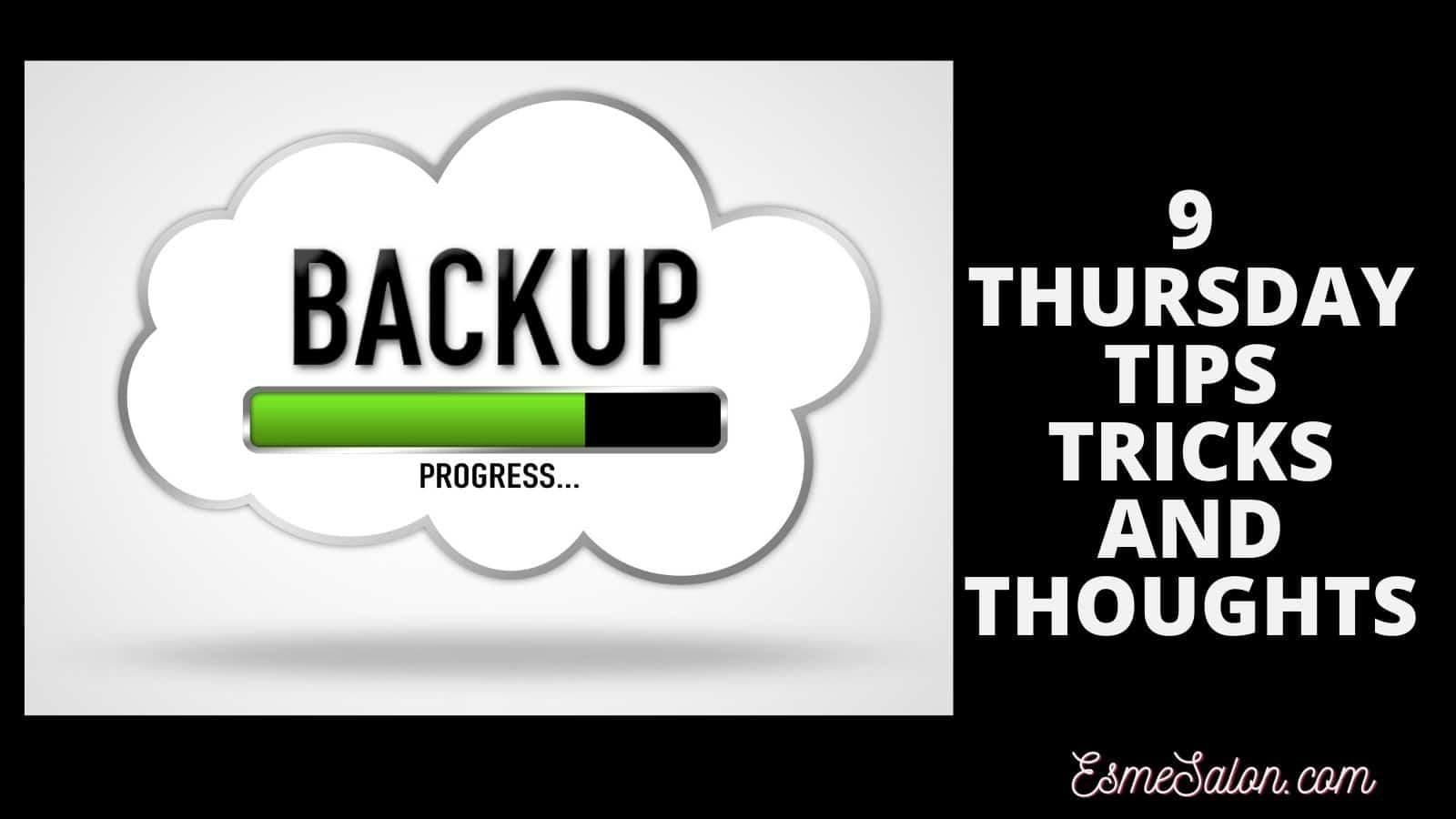 Backup of computer