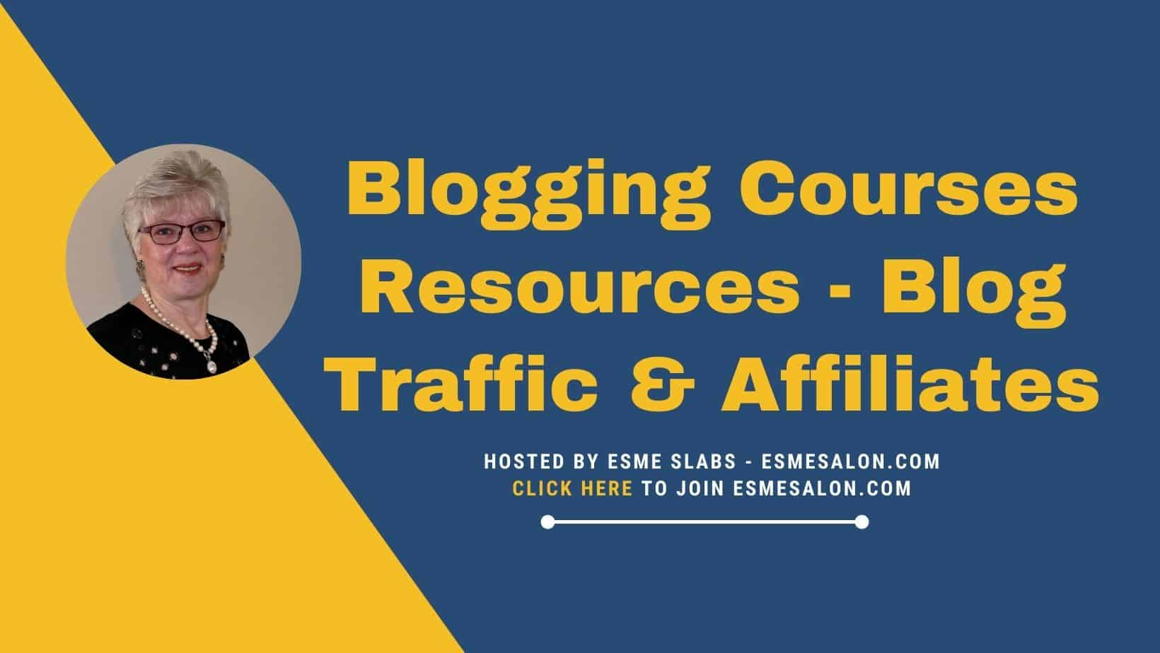 Logo for Blogging Courses Resources - Blog Traffic & Affiliates
