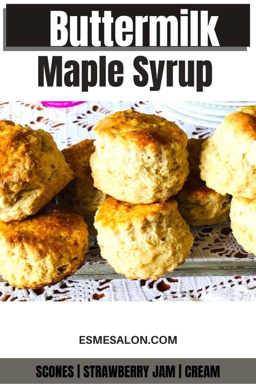 Delicious Buttermilk scones with jam and cream