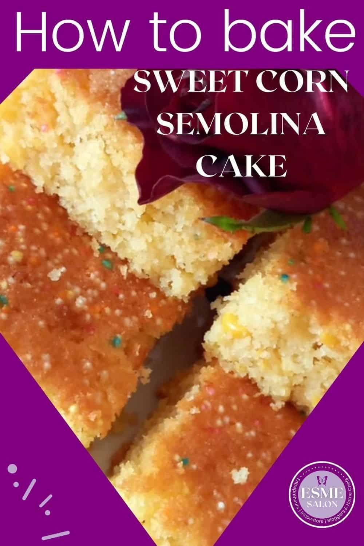 Cubes of Sweet Corn Semolina Cake