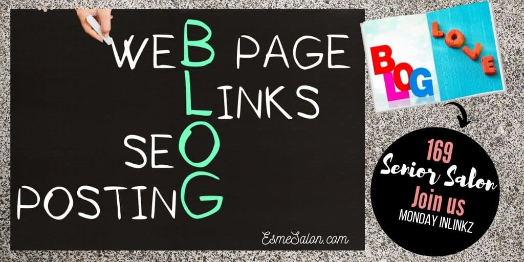 Chalk board with words BLOG Page Links