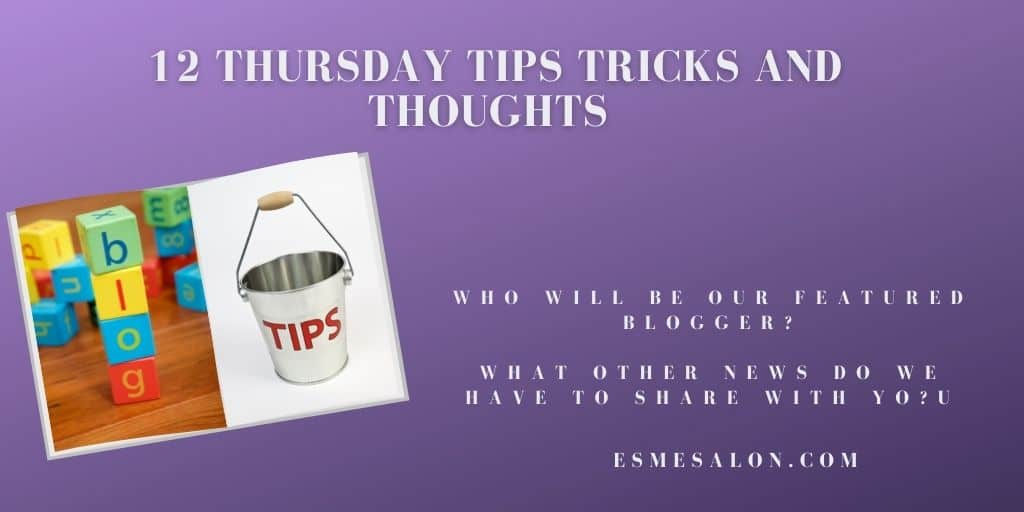 Building blocks with the word BLOG and an enamel bucket with TIPS