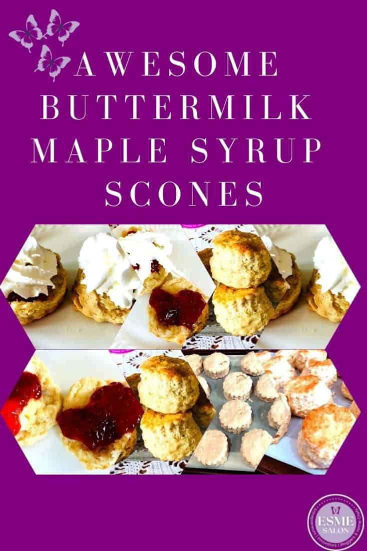 Platter with buttermilk scones with jam and cream