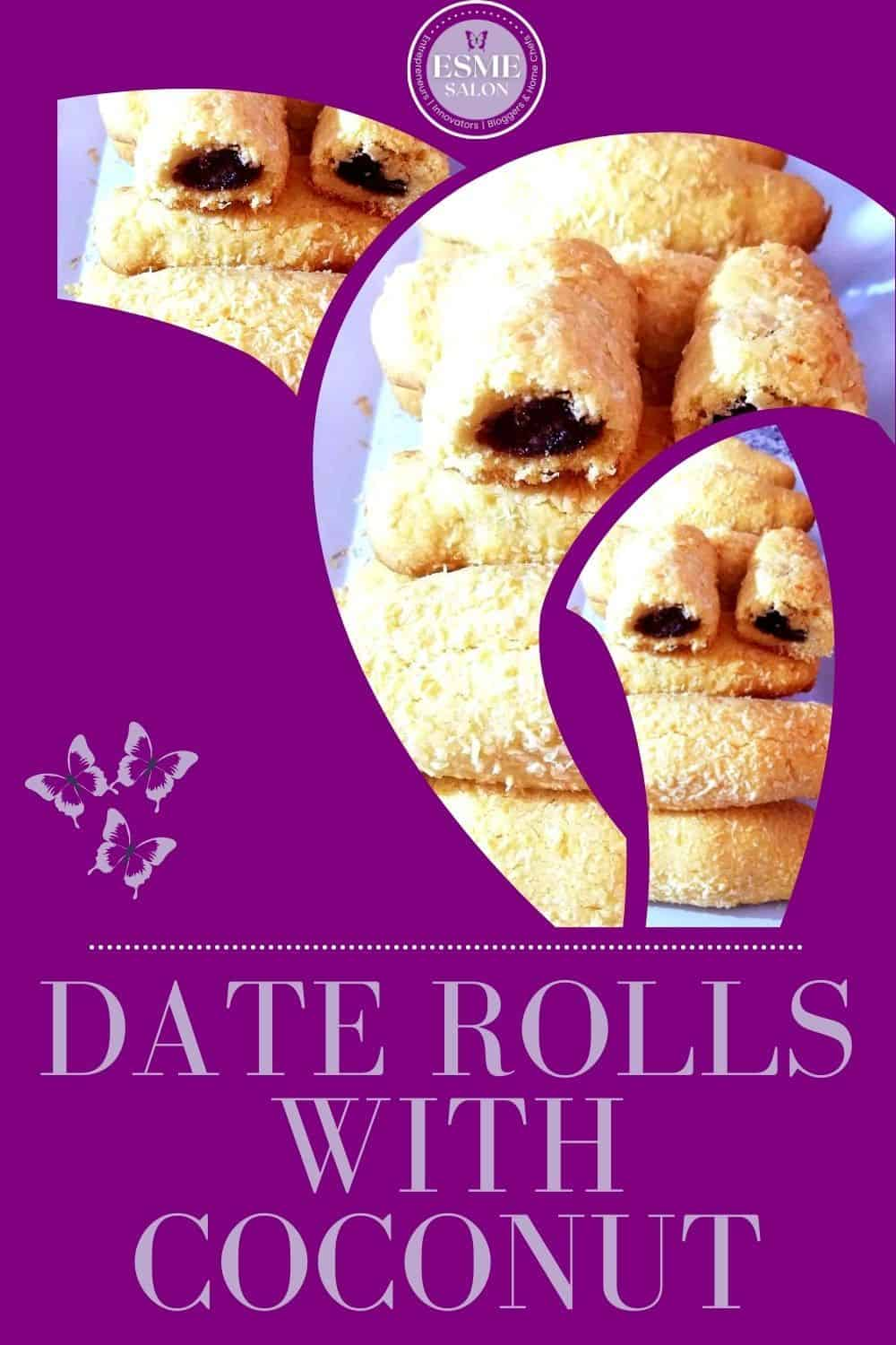 Date Rolls with Coconut