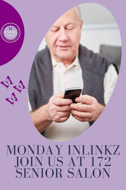 Elderly gentleman checking his mobile