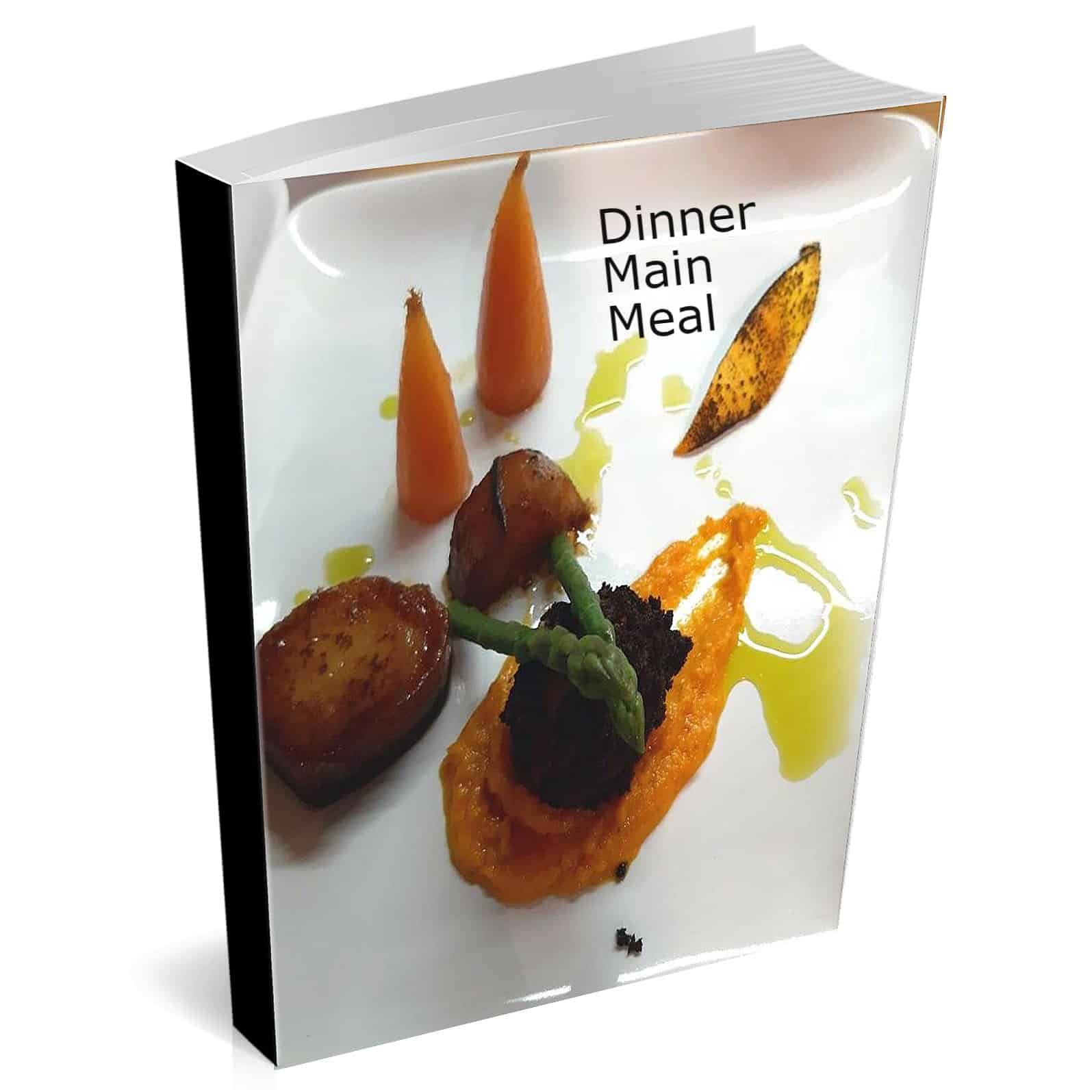 Recipe eBook cover with potatoes, carrots, asparagus and confit duck