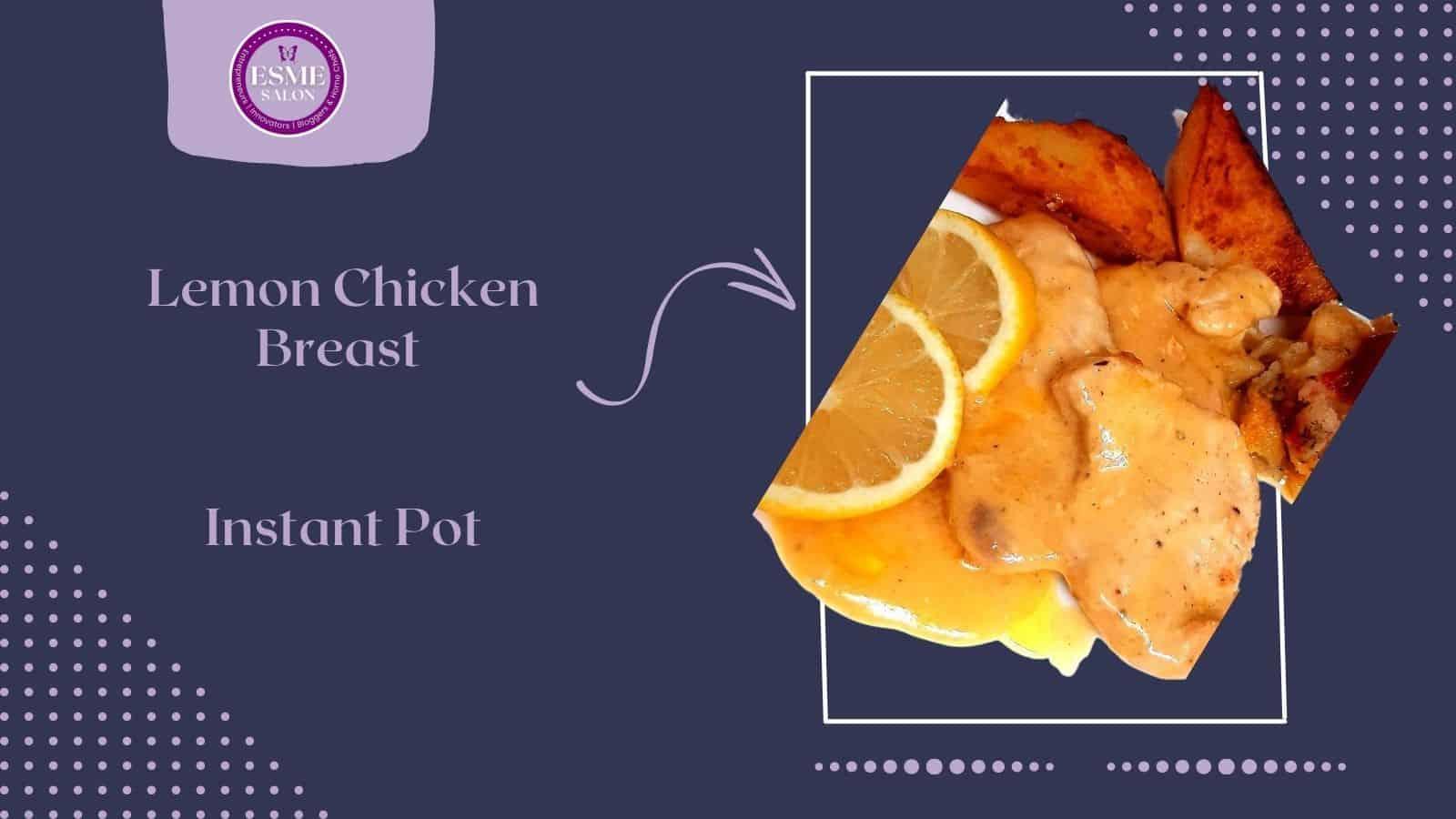 Lemon chicken with potato and sauce
