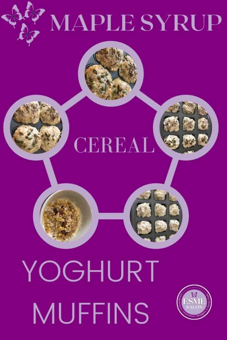 Muffins made from Cereal, yoghurt and Maple Syrup