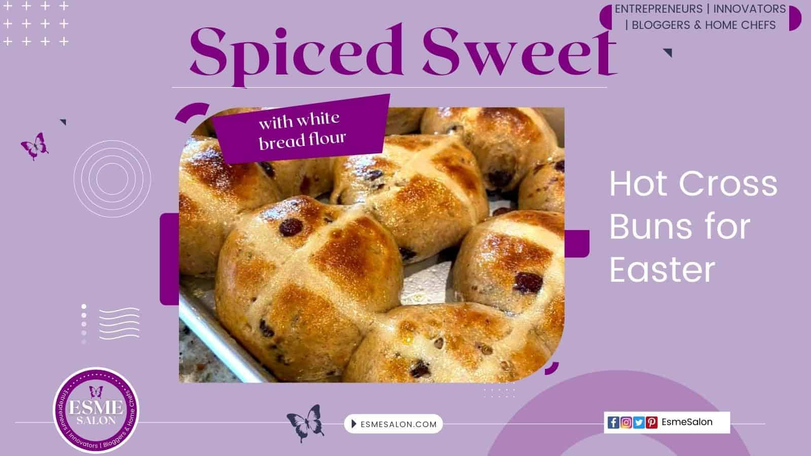 Hot Cross Buns for Easter studded with fruit