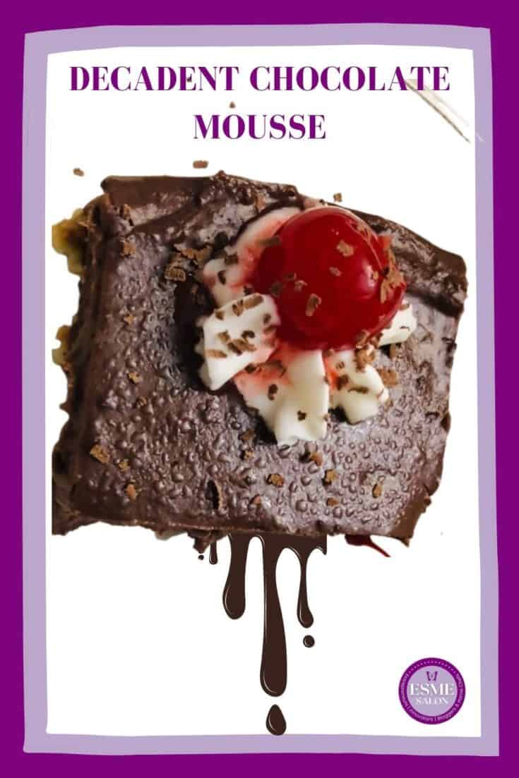 Block of Mousse with Cocoa Powder and Condensed Milk