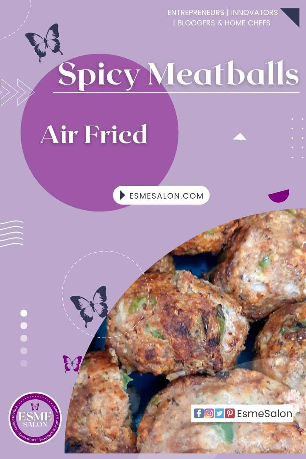 Fried Meatballs with chopped coriander and spices
